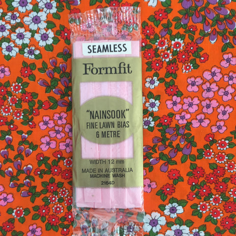 Seamless BIAS Sewing Quilting LIGHT PINK Nainsook Fine Lawn