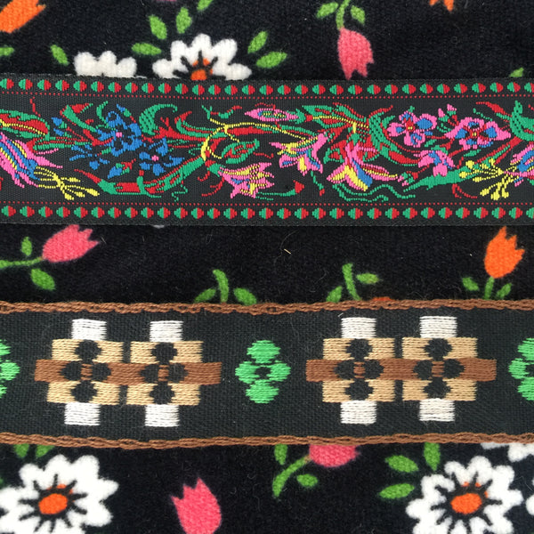 Lovely Vintage Ribbon Retro Funky Pattern Trim Embroidery