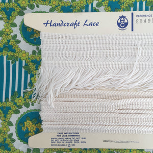 Vintage Trim & Fringe Lovely Lace CRAFT Sewing WHITE