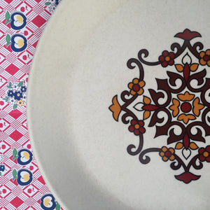 Johnson of Australia PLATE Retro Kitchen Pottery Floral
