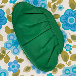 Joanne Mercer GREEN Vintage LEATHER Purse Adorable