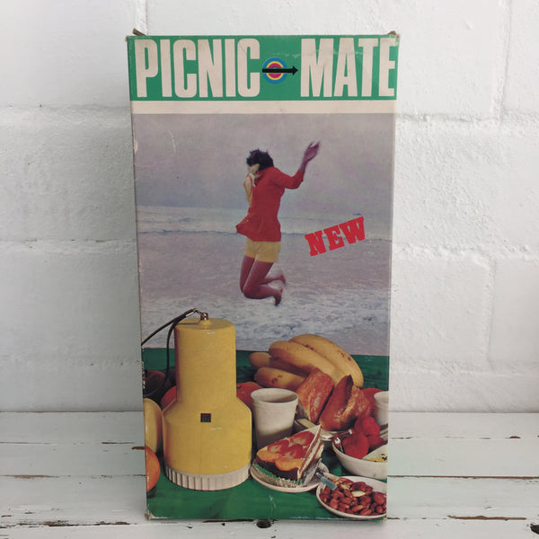 PICNIC MATE Unused Set in Small Portable Carry Container Caravan Camping