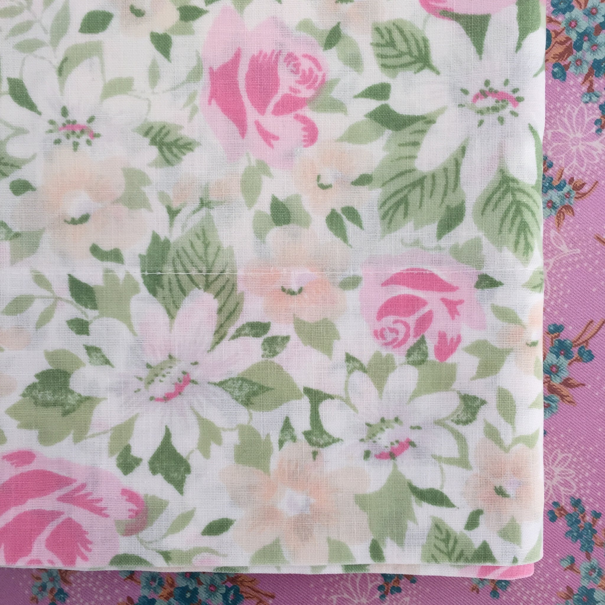 A Cute Vintage Pillow Case Perfect for a Little Girls Room