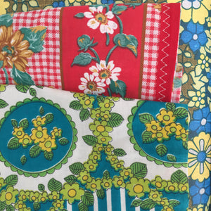Cute PAIR of VINTAGE Apron's 70's Fabric AS NEW Kitchen RETRO