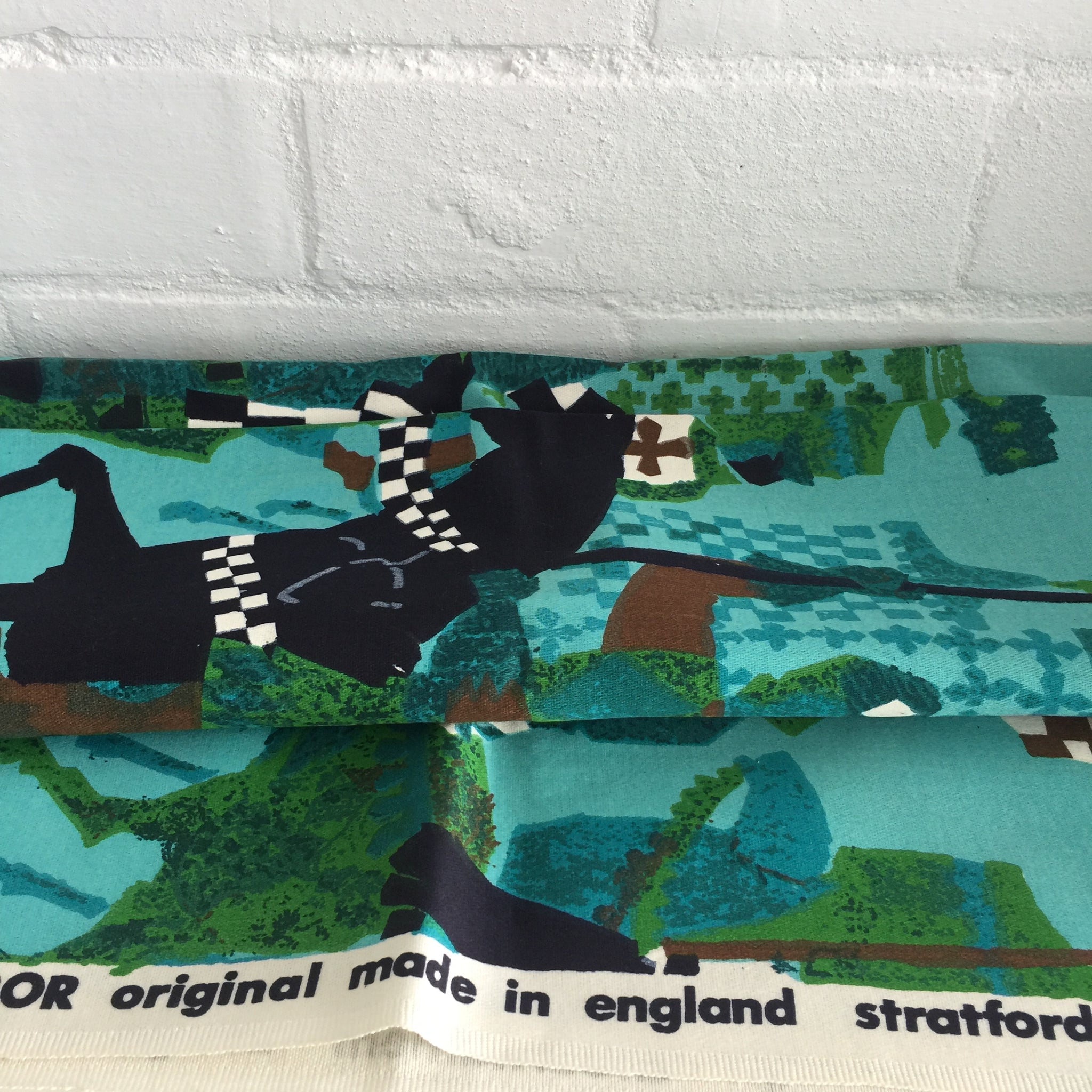 TIBOR Original Stratford on Avon Wall Hanging Fabric Made in ENGLAND
