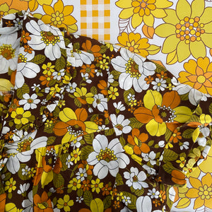 Brunch Coat All Cotton Genuine RETRO Vintage DRESS 70's Flower Power