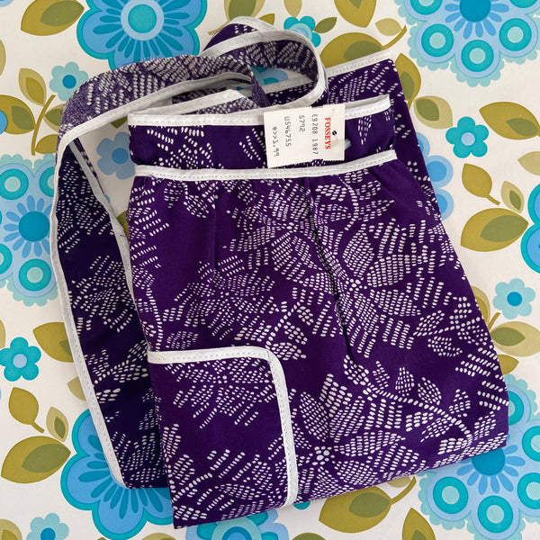 Crisp Unused with TAG Vintage Apron Purple RETRO