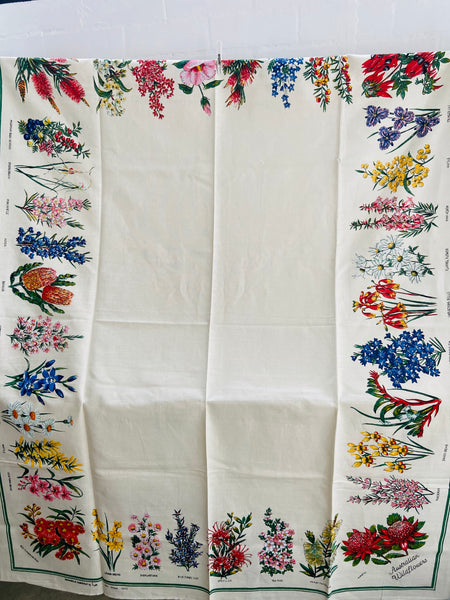 Large UNUSED Collectable Vintage Table Cloth Souvenir Native Floral