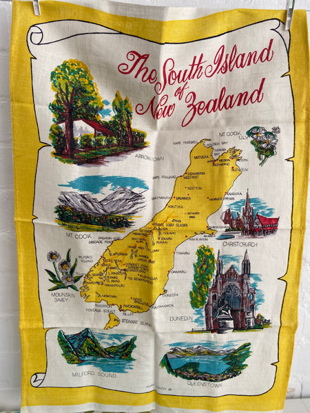 NEW Zealand Tea Towel Collectable Souvenir RETRO