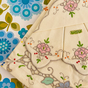 Unused Hand Made Table Cloth Vintage Charming BEAUTY