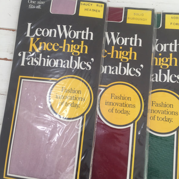LEON WORTH Knee High Fashionables VINTAGE Style x 4