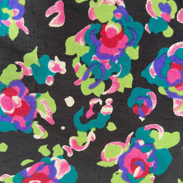 SELWYN Vintage Floral Fabric Pretty Print Dress Shirt Sewing 260cms