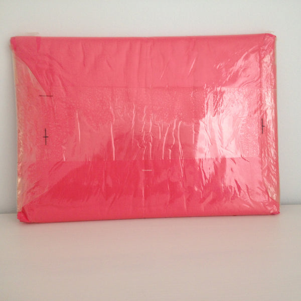 Bright Pink Vintage Pillow Cases ~ UNUSED PAIR ~ Sheets - Pink Peacock  - 4