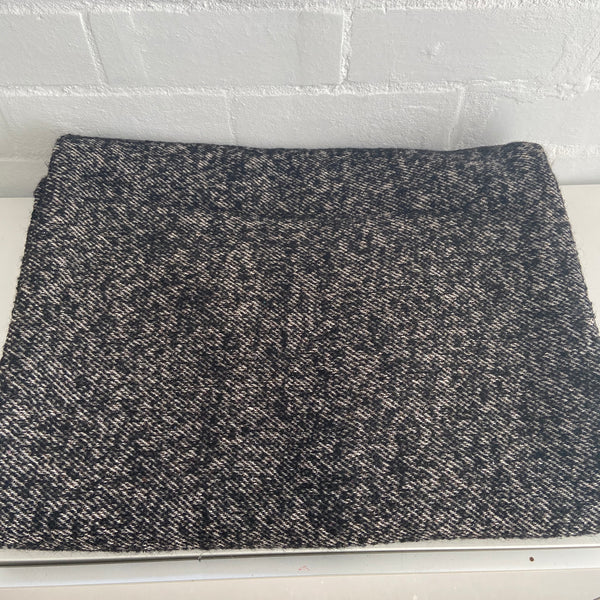 Black Vintage Blanket WOOL Up Cycle Great Colour