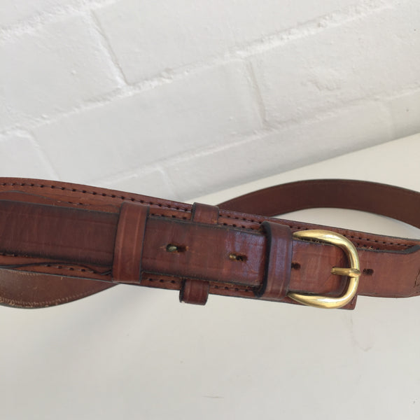 Hippy Festival Country Worn RUSTIC Vintage BOHO BELT Genuine LEATHER 70's