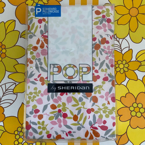 POP Unused Standard Pillow Case Bright Bright GIrls Bedroom