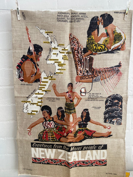 NEW Zealand Tea Towel Linen Souvenir Collectable