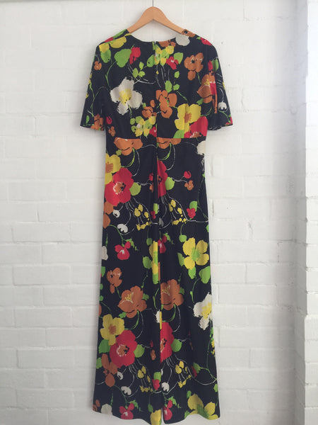 FUNKY Vintage Maxi Dress 70's Fun LOVE IT!!!!