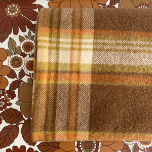 Brown Wool Blanket AMAZING Quality Checked VINTAGE