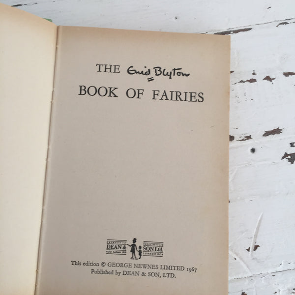 The Enid Blyton Book of Fairies VINTAGE Hard Cover