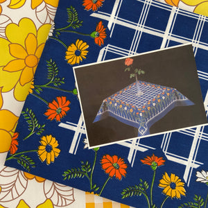 Made in Brazil UNUSED Retro TABLE CLOTH