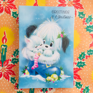 ADORABLE Pack of Vintage Xmas Christmas Cards 70's Retro