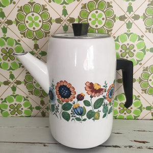 Camping Caravan Holiday HOME Retro Tea Pot Metal