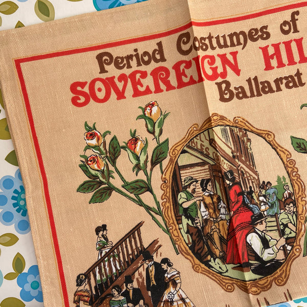 Cute Cotton Tea Towel Sovereign HILL Collectable Vintage