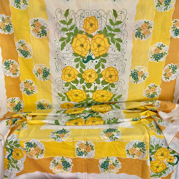 CUTE Pair Of Very Large Table Cloths PICNIC Caravan Craft