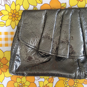 OROTON Clutch OVERSIZED HUGE Genuine LEATHER Club Cocktail Evening