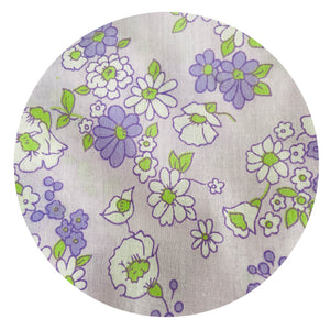 FAT QUARTER Flower POWER Fabric VINTAGE All Cotton Retro Quilting