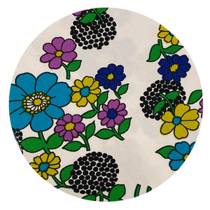 145cms Flower POWER Daisy PRINT Cotton FABRIC Material