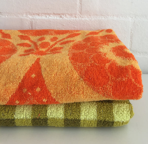 CARAVAN Camping VINTAGE RETRO Mixed VINTAGE 70's Bath Towels ~ Cute SET Children