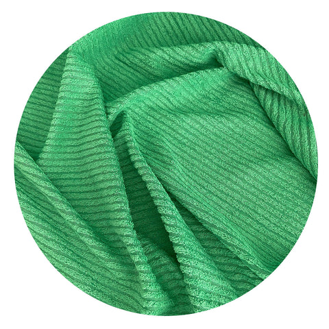 165cms Wonderful Bright Green Ribbed Vintage FABRIC