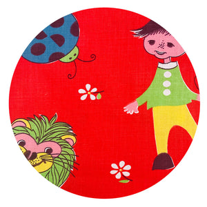 KIDS RETRO Cotton FABRIC Rare Sewing CRAFT