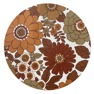 BROWN 70's Funky Retro Genuine Vintage WALLPAPER