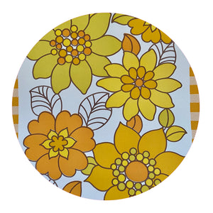 MAYFAIR Vinyl RETRO Yellow Wallpaper AWESOME BRIGHT 70's