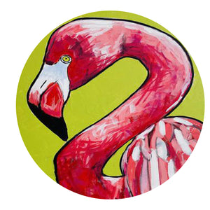 LARGE Original ONE OF A Kind Painting Flamingo Pop Art