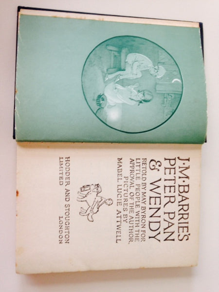 J M Barnes Peter Pan & Wendy Retold for Little People - Pink Peacock  - 3