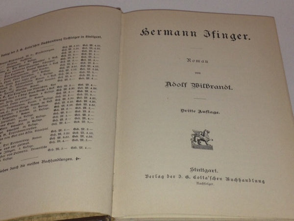 Hermann Finger Adolf Wilbrandt Vintage GERMAN Hardcover Book - Pink Peacock  - 2
