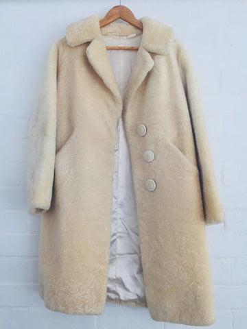 AMAZING Winter Coat 50's Wool Fully Lined VINTAGE STUNNING