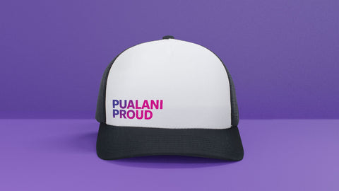 PUALANI PROUD WHITE TRUCKER HAT