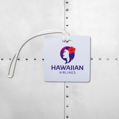 HAWAIIAN AIRLINES HARD METAL LUGGAGE TAG
