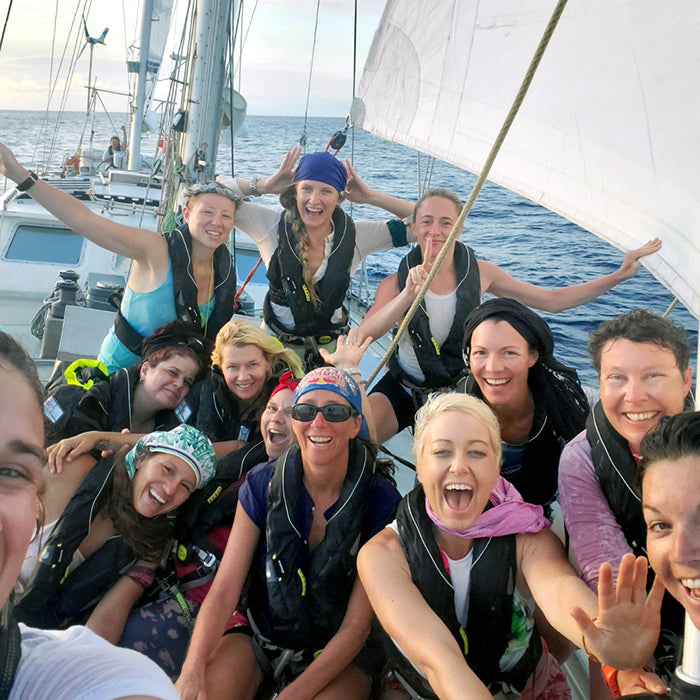 The all women crew of the eXXpedition