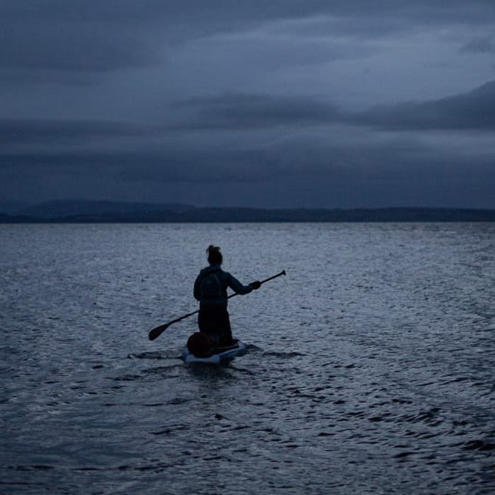Paddling out in early morning