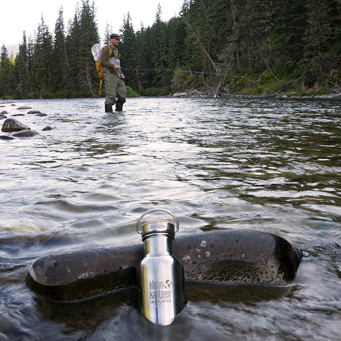 Sean Jansen with his Reflect Kanteen fishing in Montana