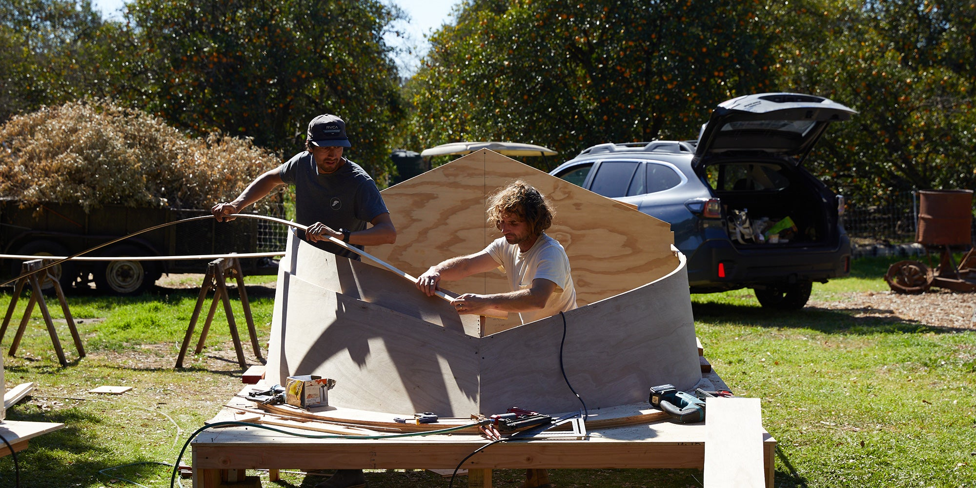 Building the boat hull