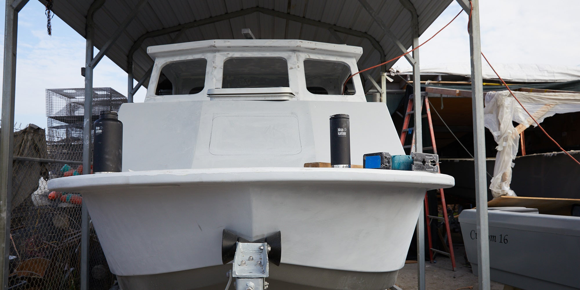 Front of the boat