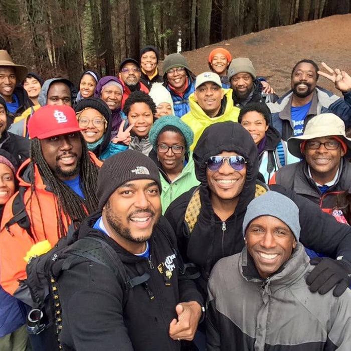 Outdoor Afro Leaders out on a hike