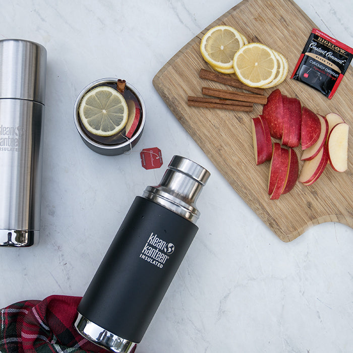 Holiday Hot Toddy Drink Recipe in Steel Thermos